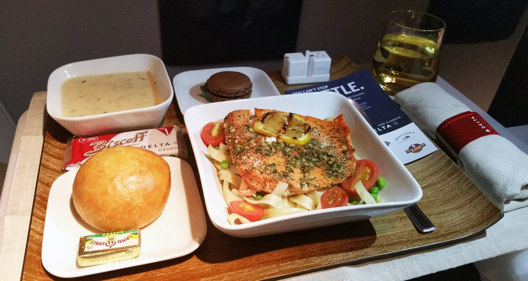 delta airlines first class meal