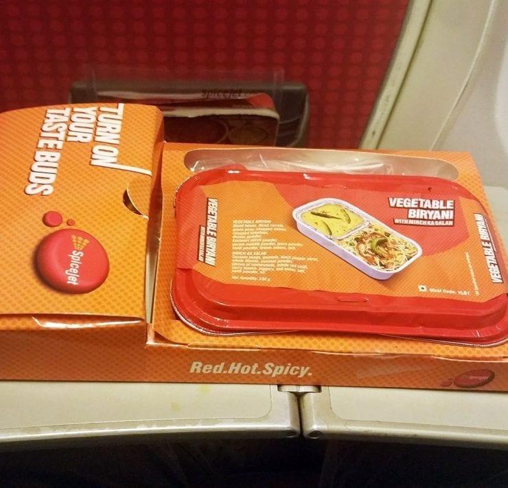 Spicejet economy class meals