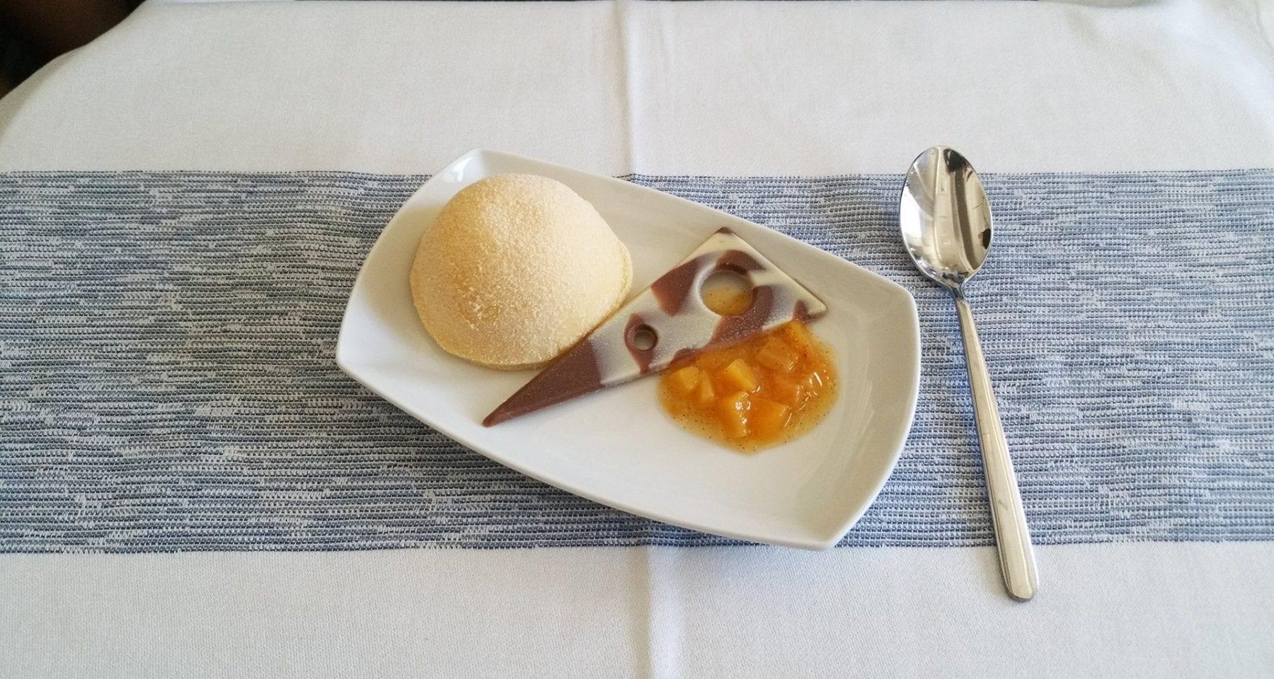 condor business class dessert