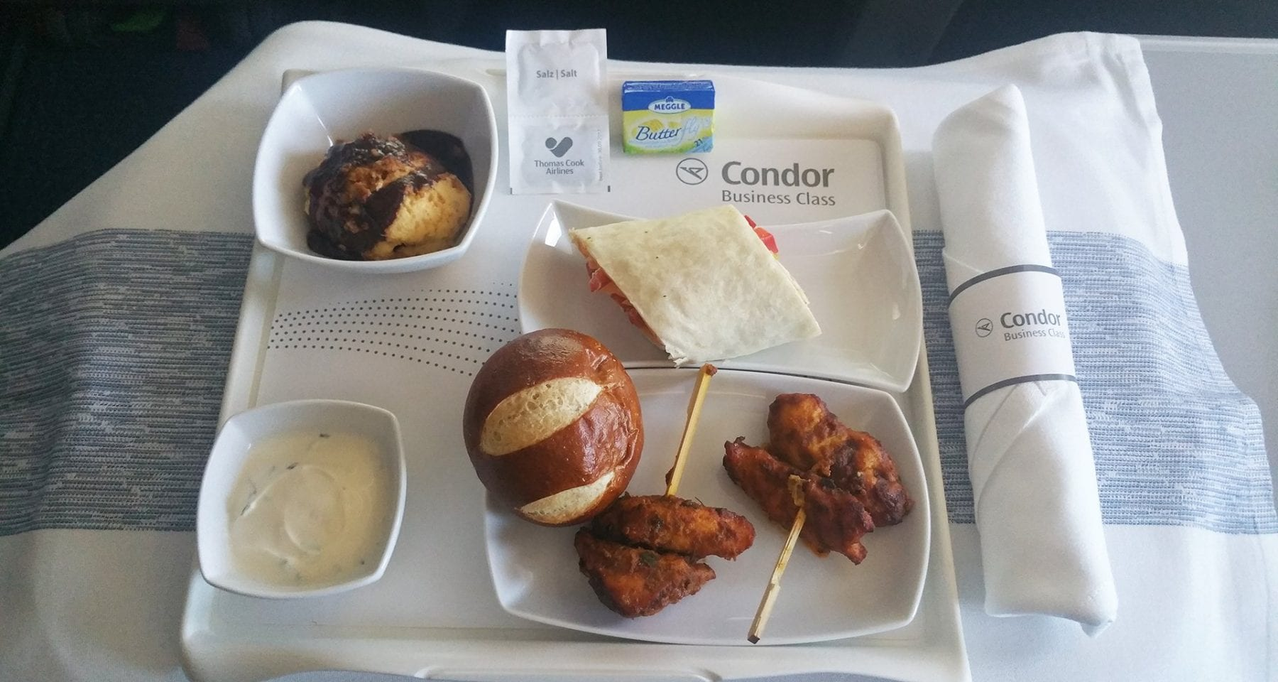 condor airlines business class meal second service