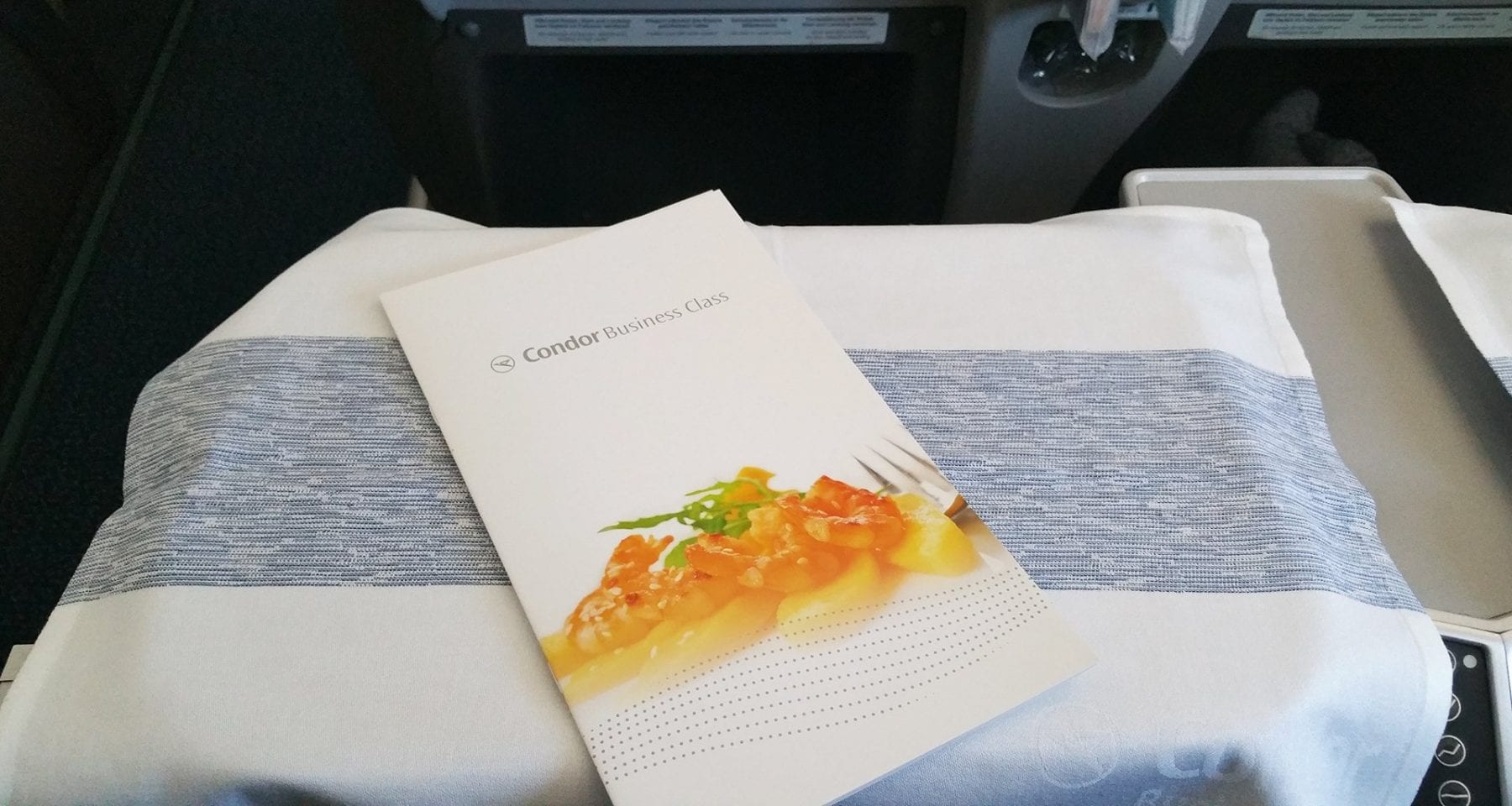 condor airlines inflight menu