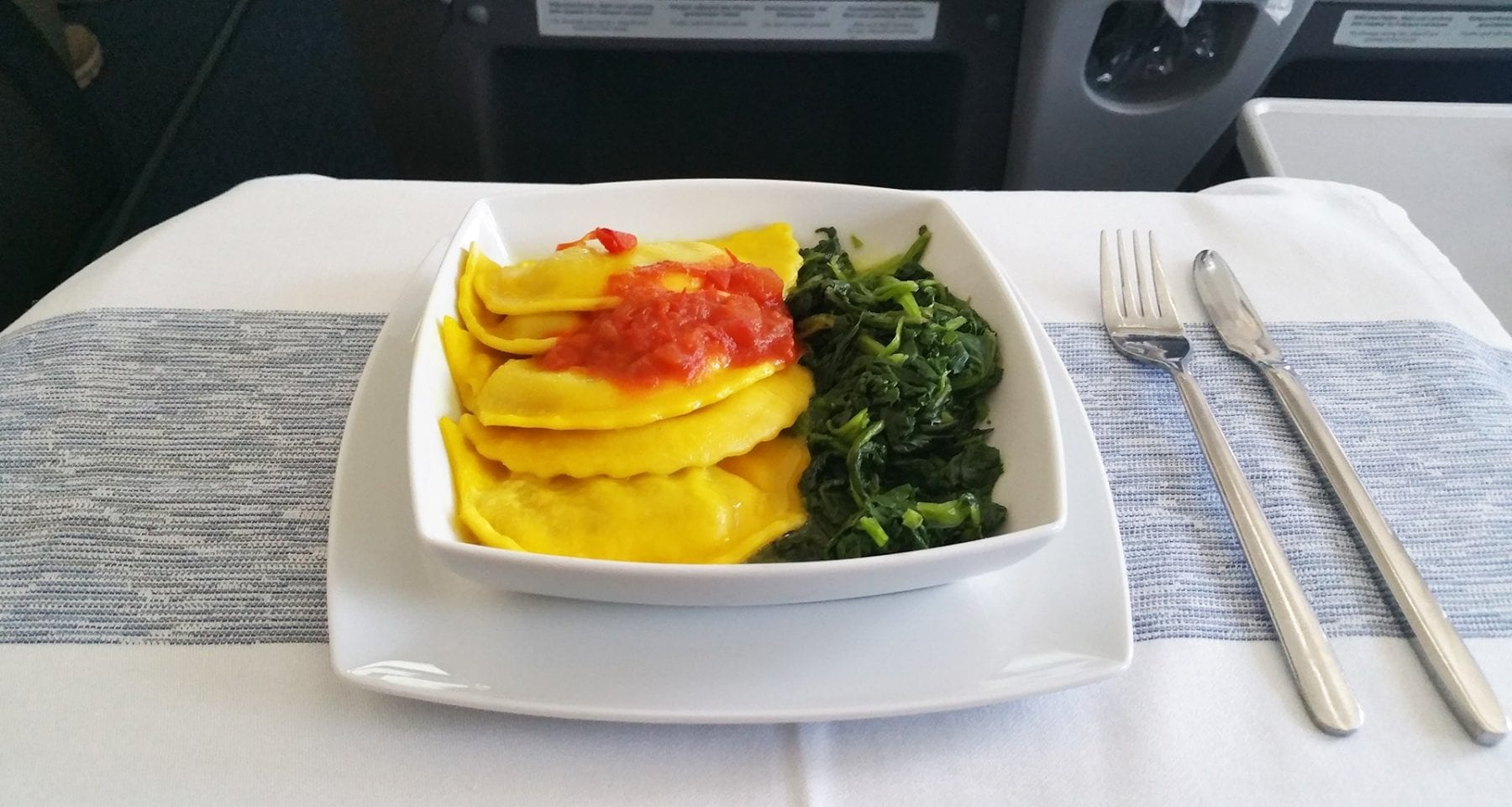 condor business class main meal