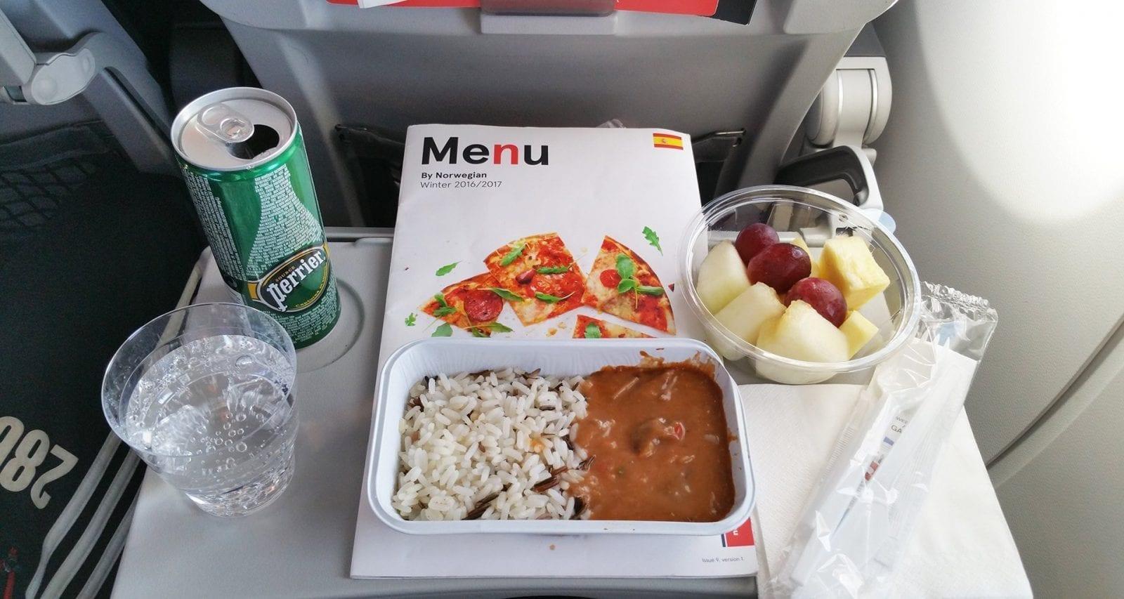 Norwegian Airlines meals onboard