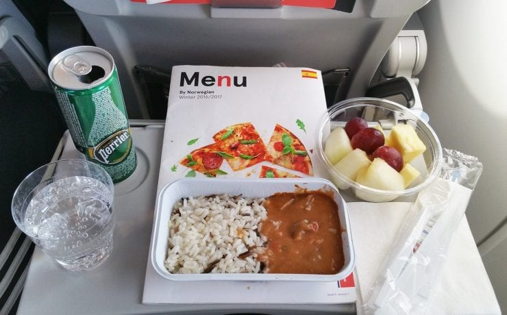 Norwegian Airlines meals onboard