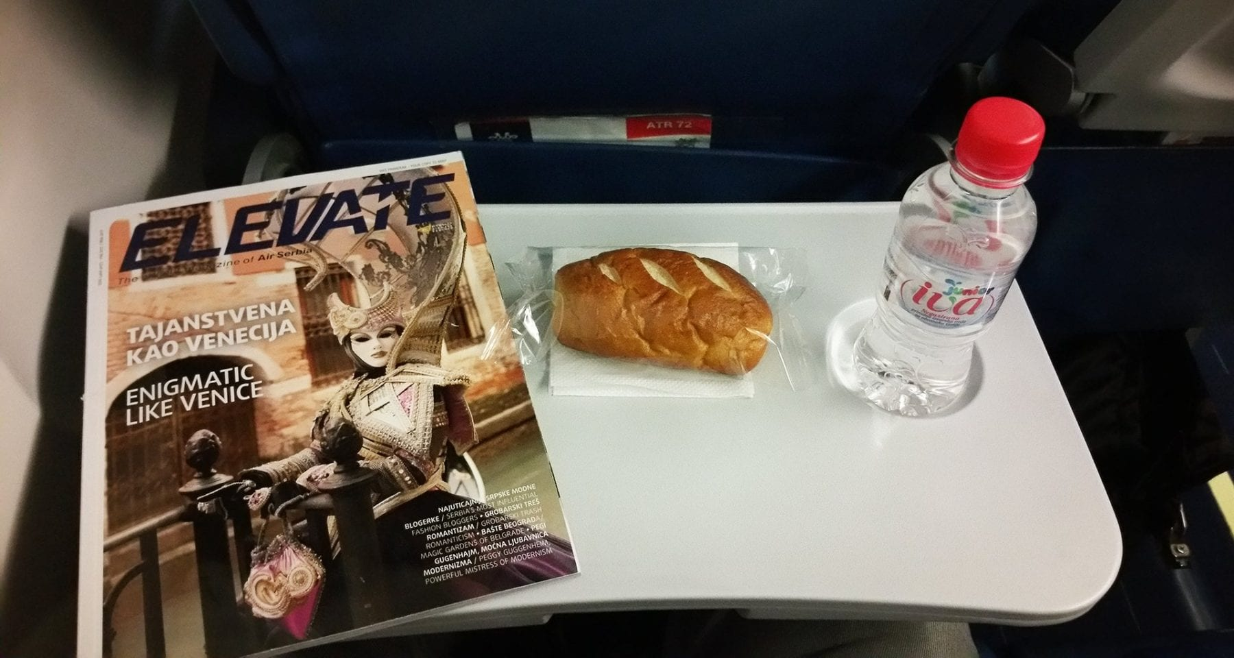 air serbia bread and water economy class
