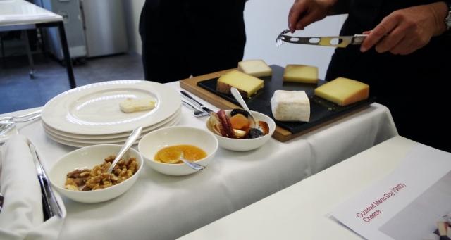 swiss air cheese platter