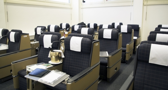swiss airlines cabin mock up