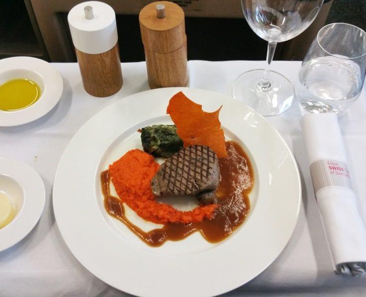 swiss first class main meal