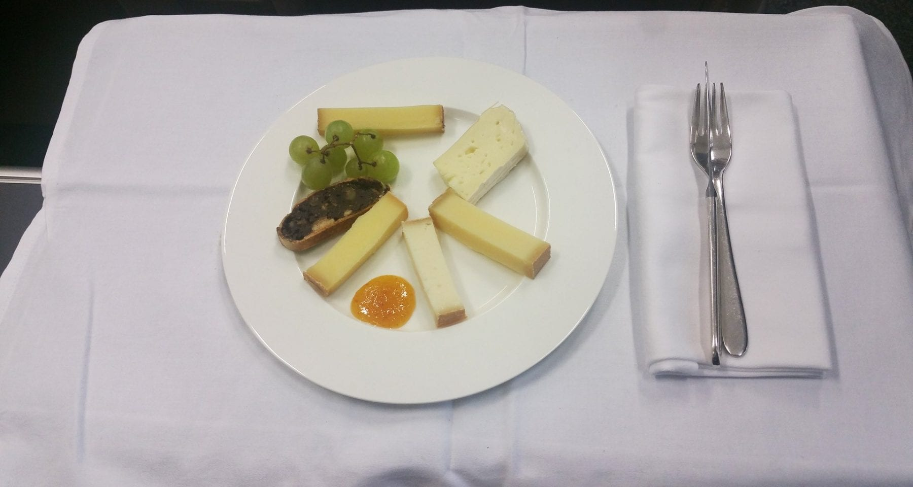 swiss airlines first class cheese platter