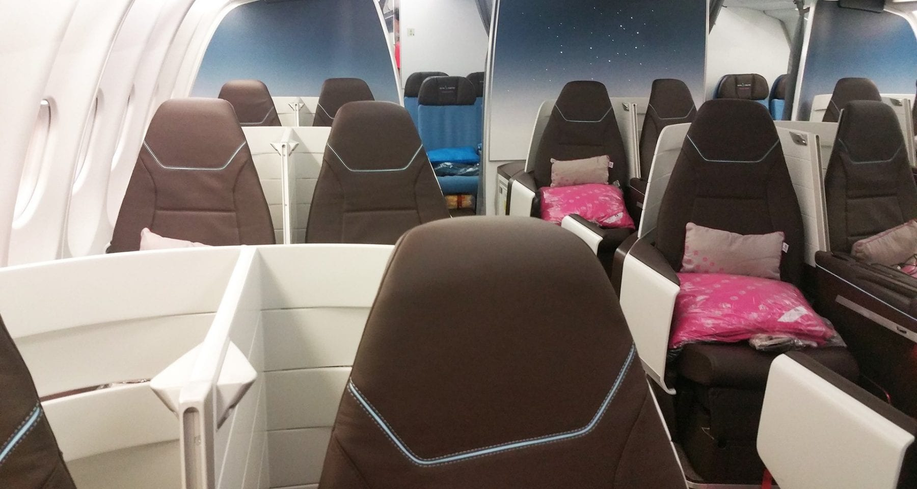Hawaiian airlines new business class cabin