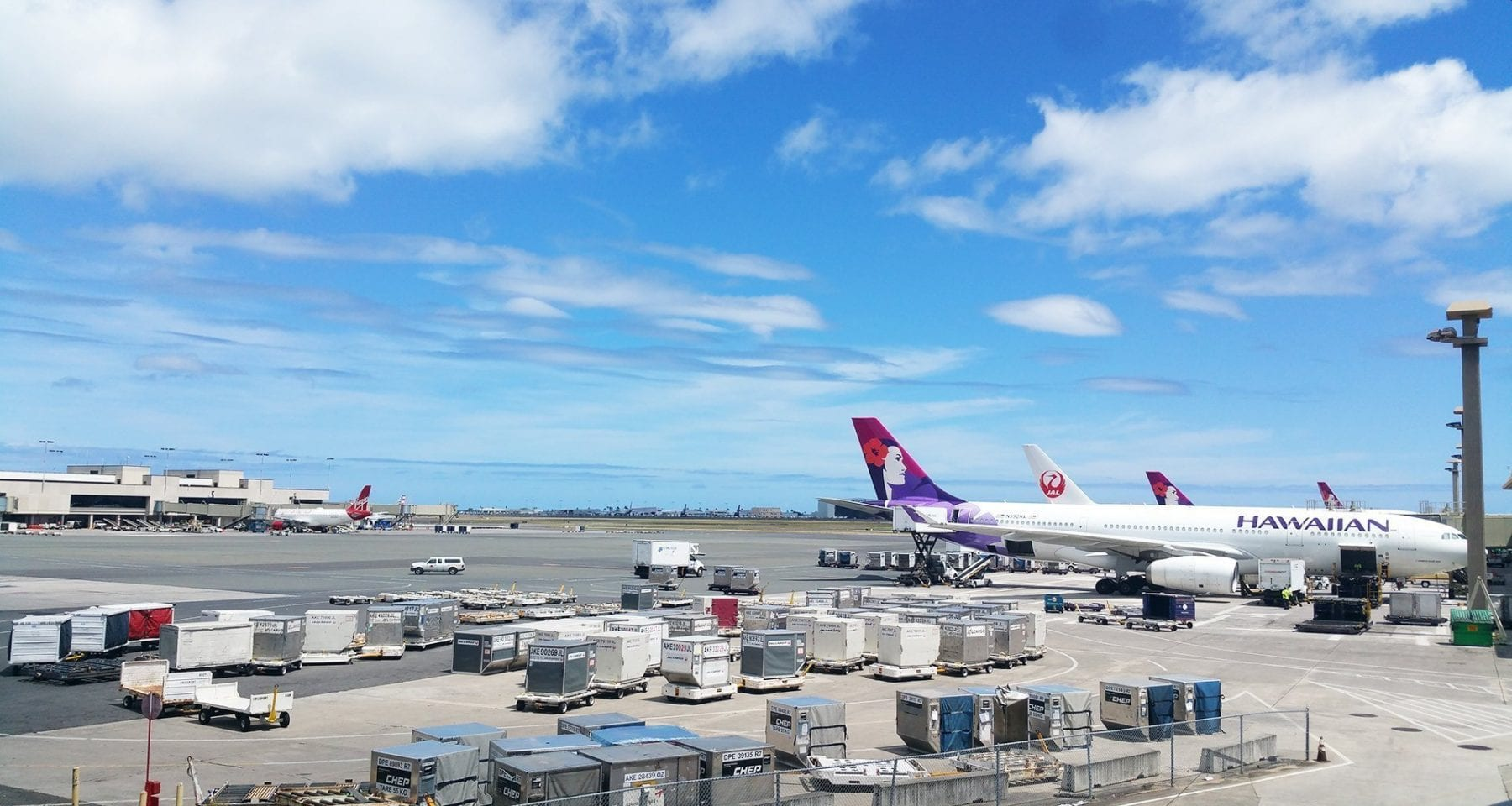 Hawaiian airlines aircraft parked at Honolulu International Airport
