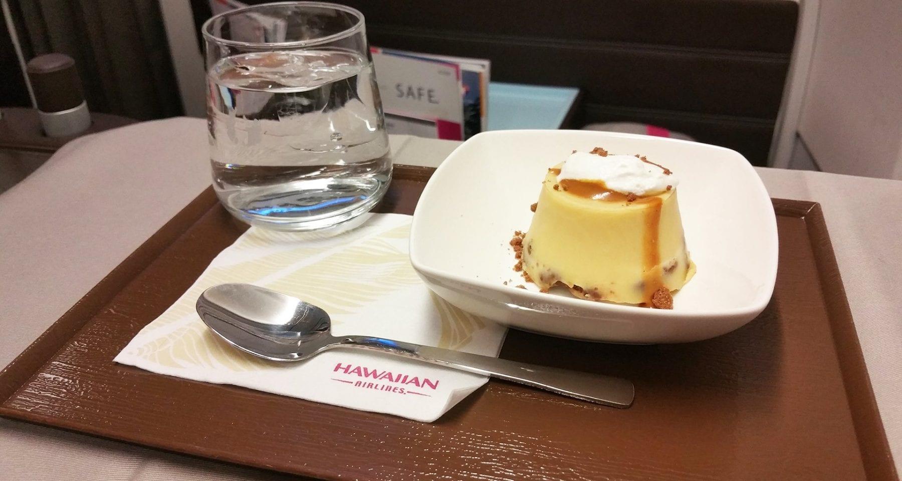 Hawaiian airlines inflight dessert first classHawaiian airlines inflight dessert first class