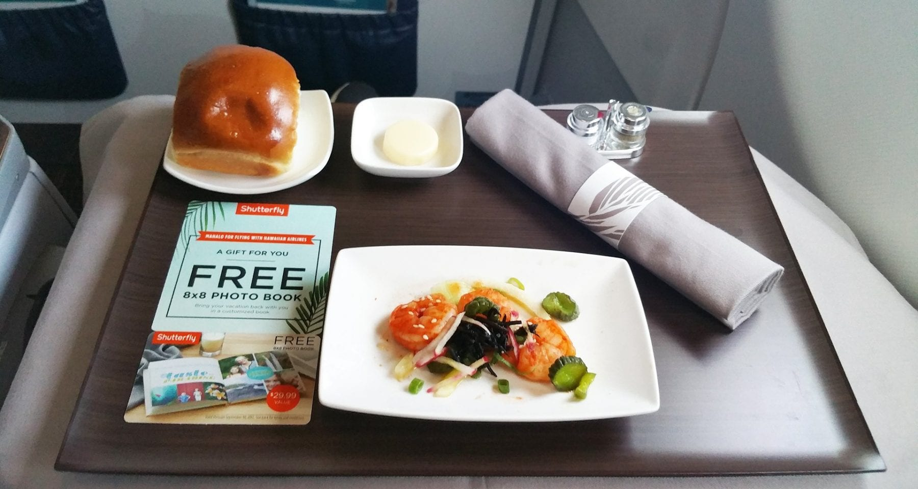 Hawaiian airlines inflight entree first class