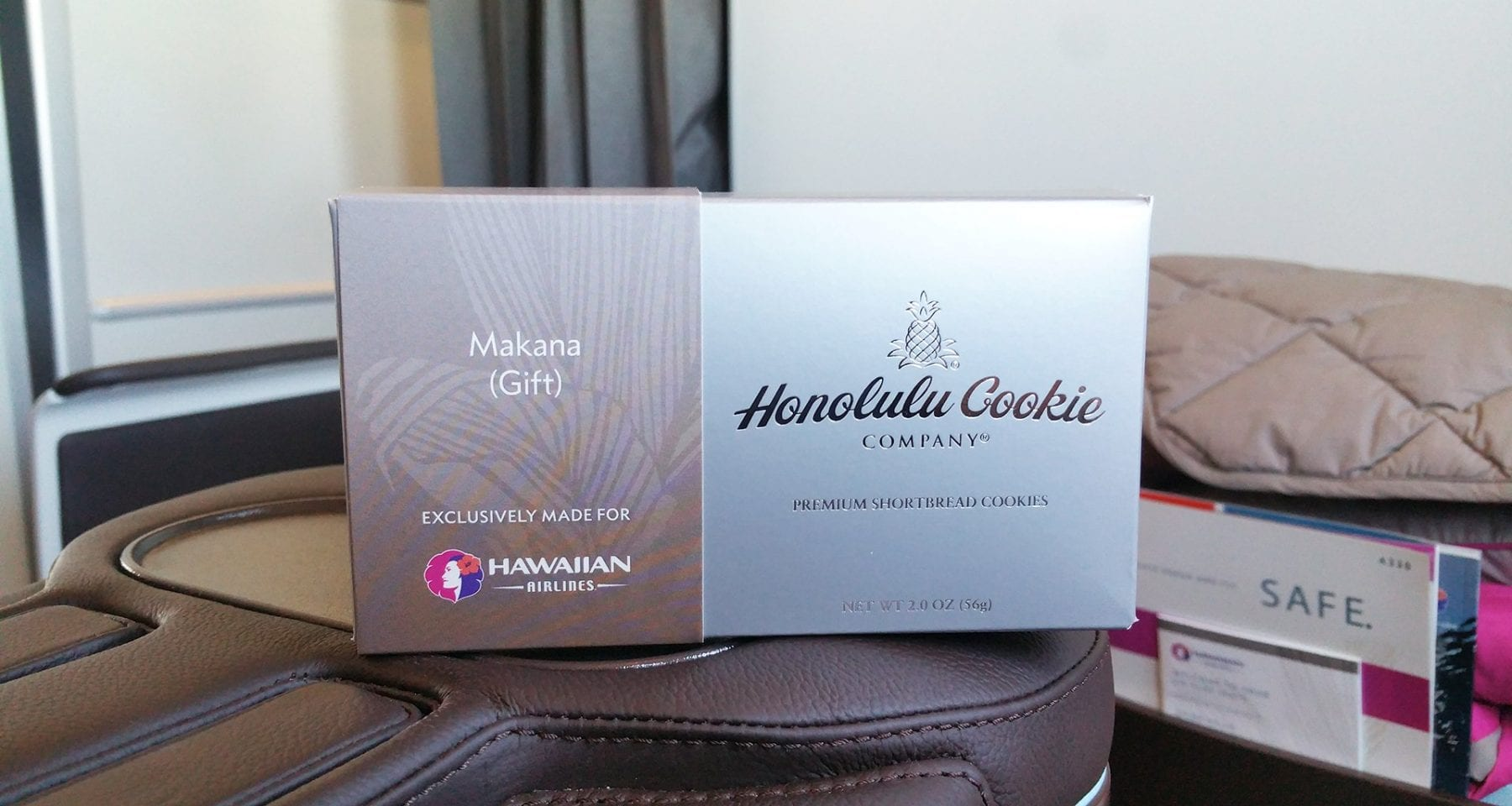 Hawaiian Airlines Honolulu Cookie company gift