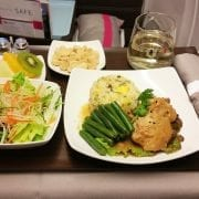 Hawaiian airlines inflight meal business class