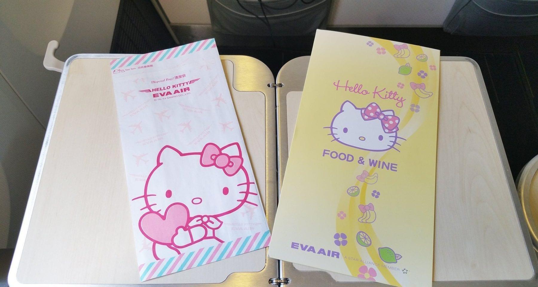 eva air hello kitty menu