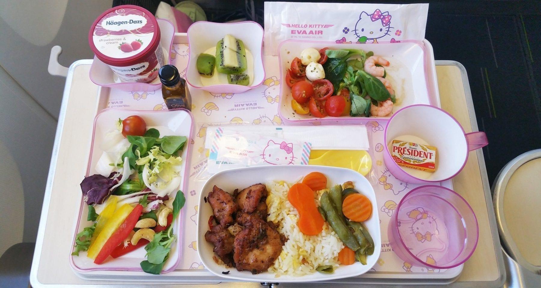 eva air premium economy class meal