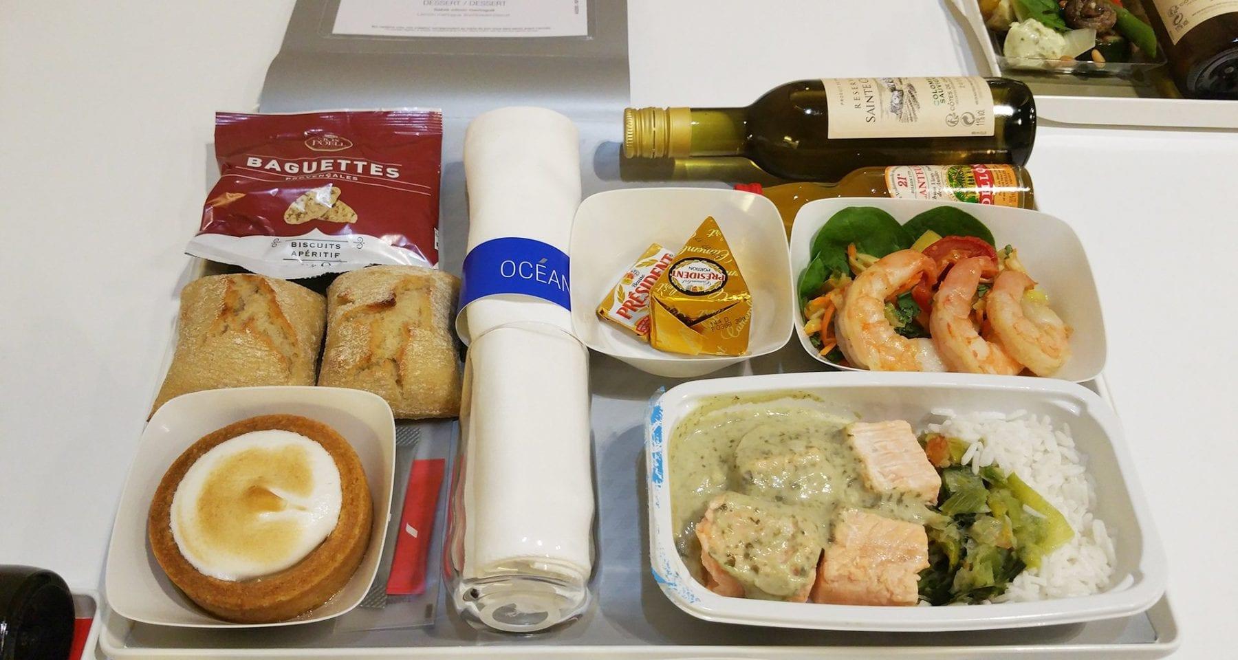 air france ocean meal economy class