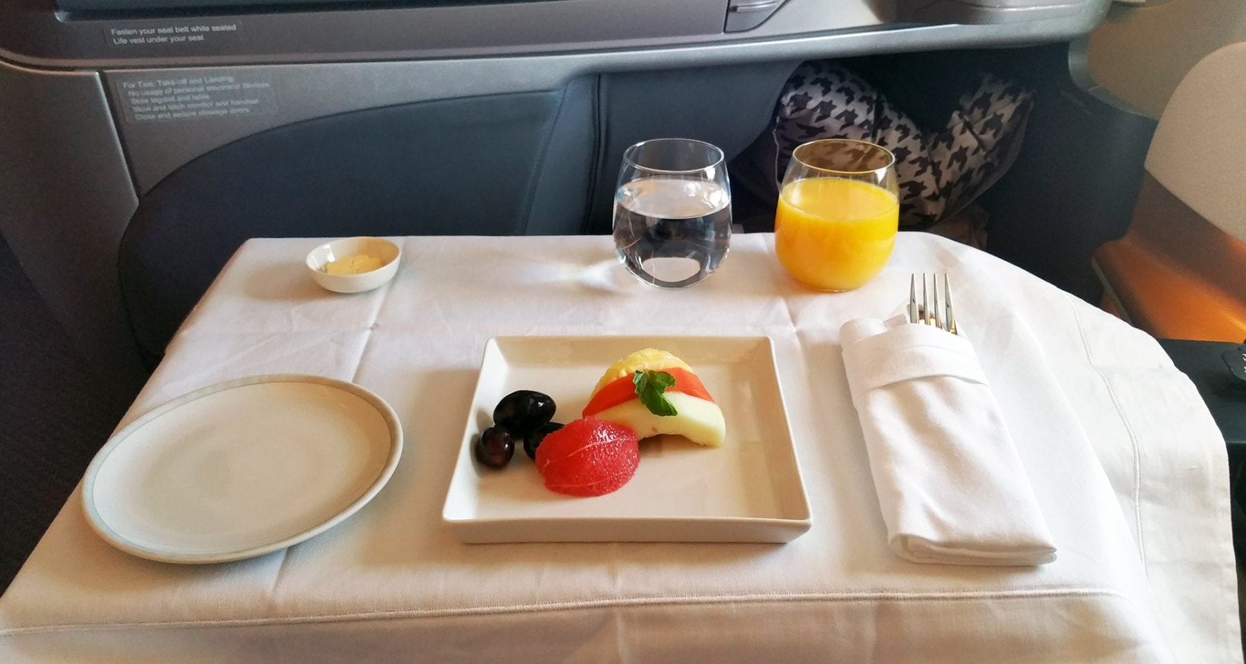 singapore airlines continental breakfast