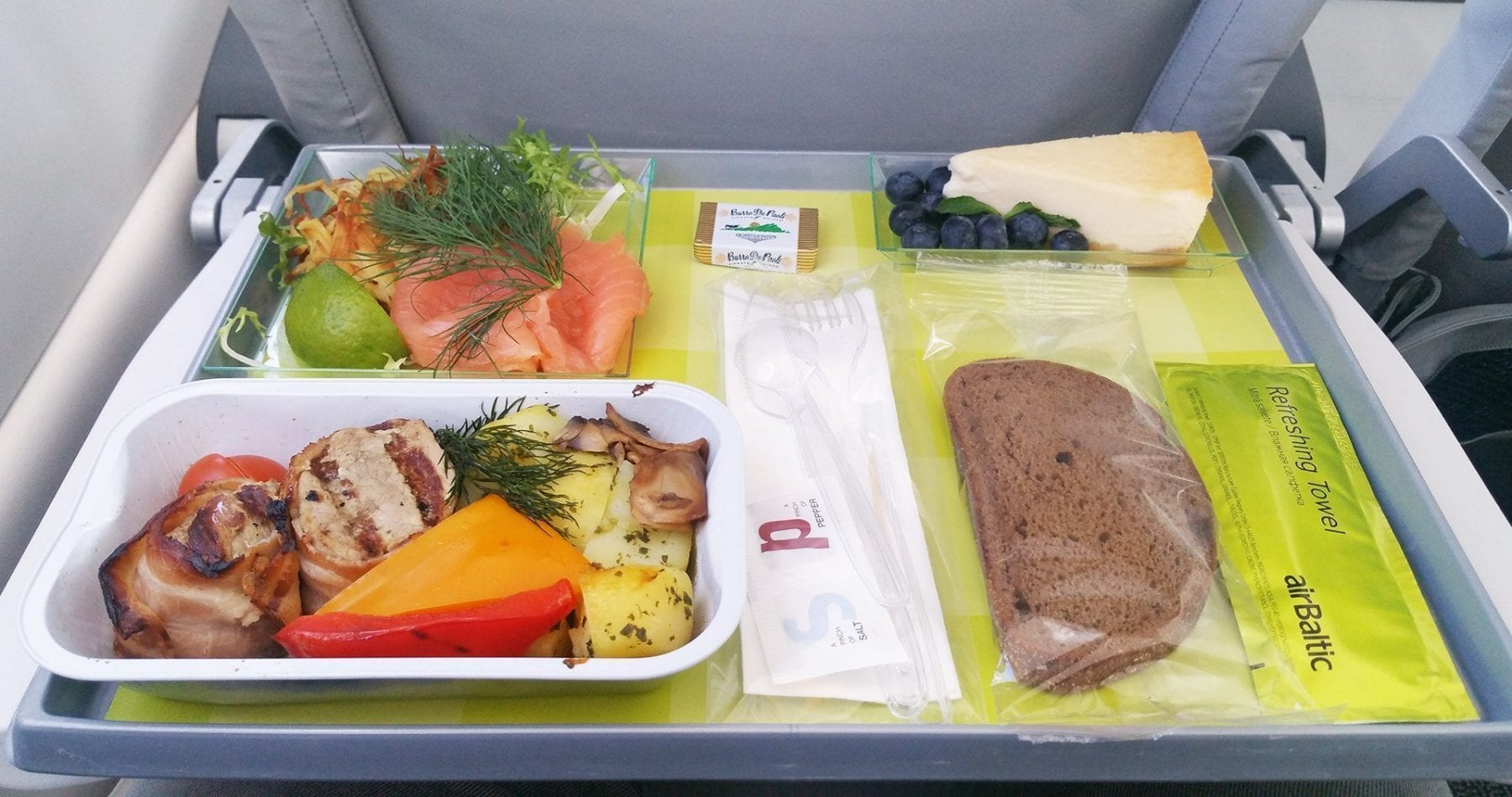 Air Baltic economy class pre order meal