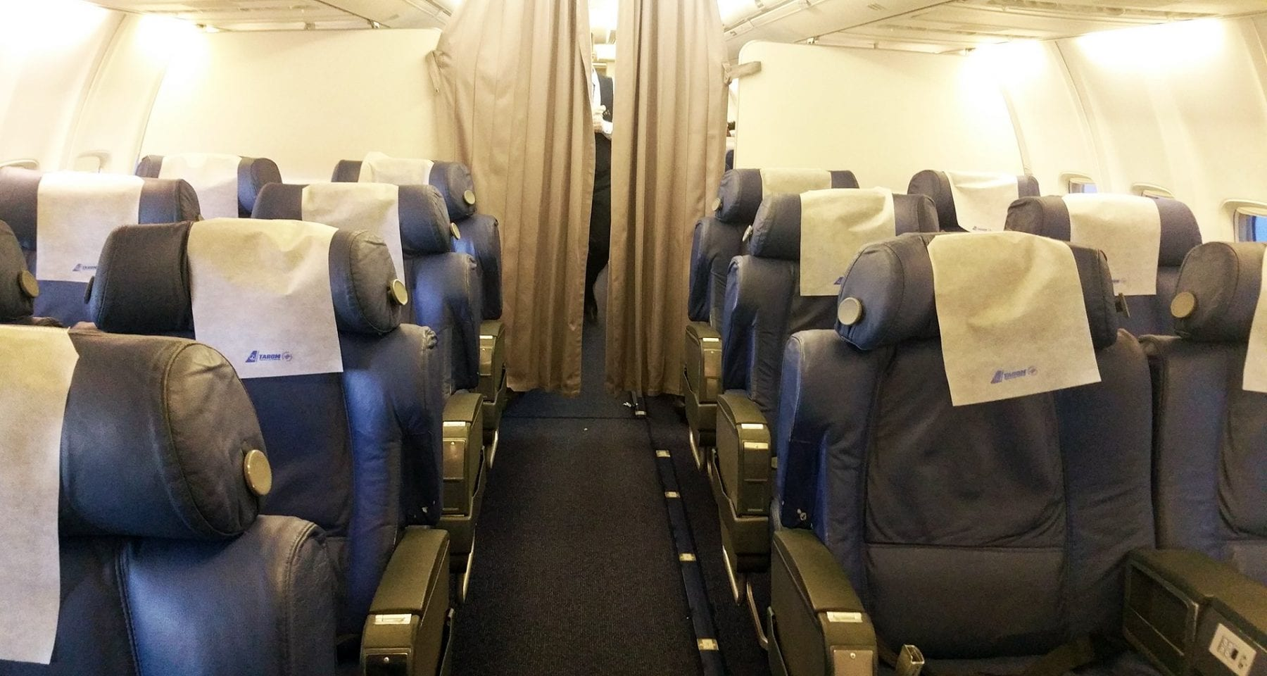 Tarom Airlines Business Class cabin