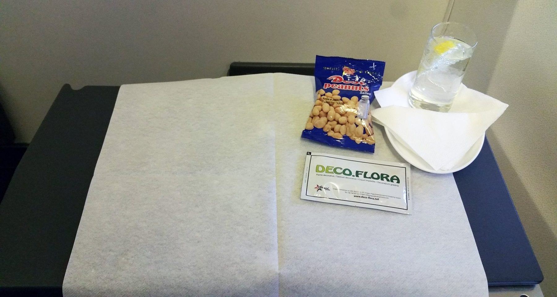 Tarom airlines nuts and drink business class