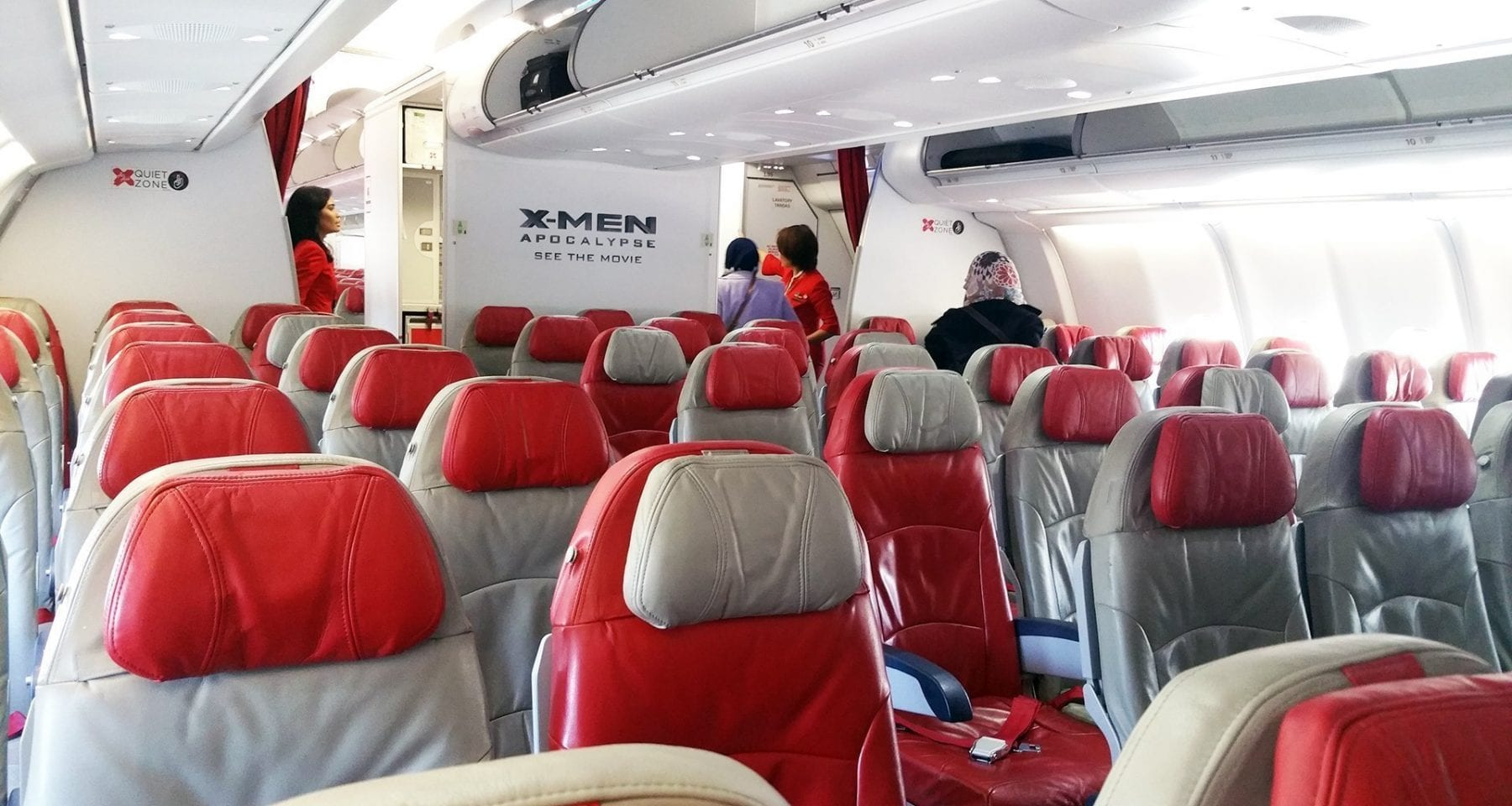 Air Asia A330 economy class cabin