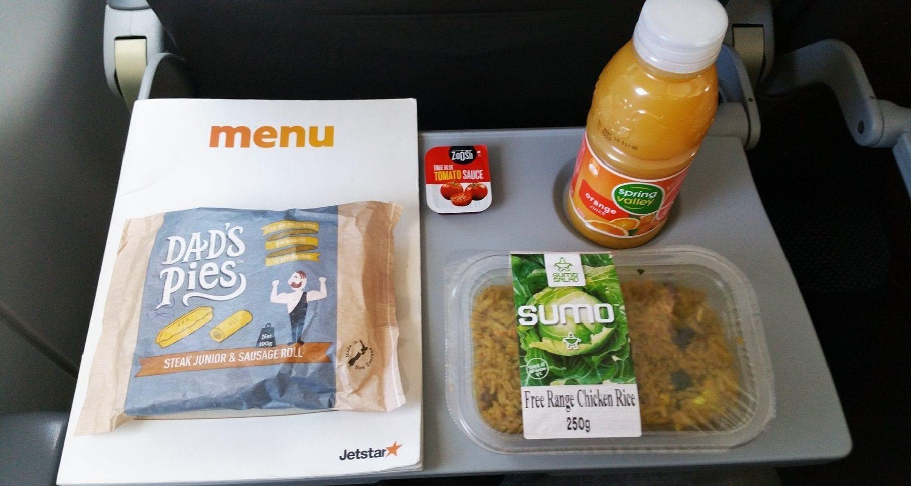 Jetstar inflight meals