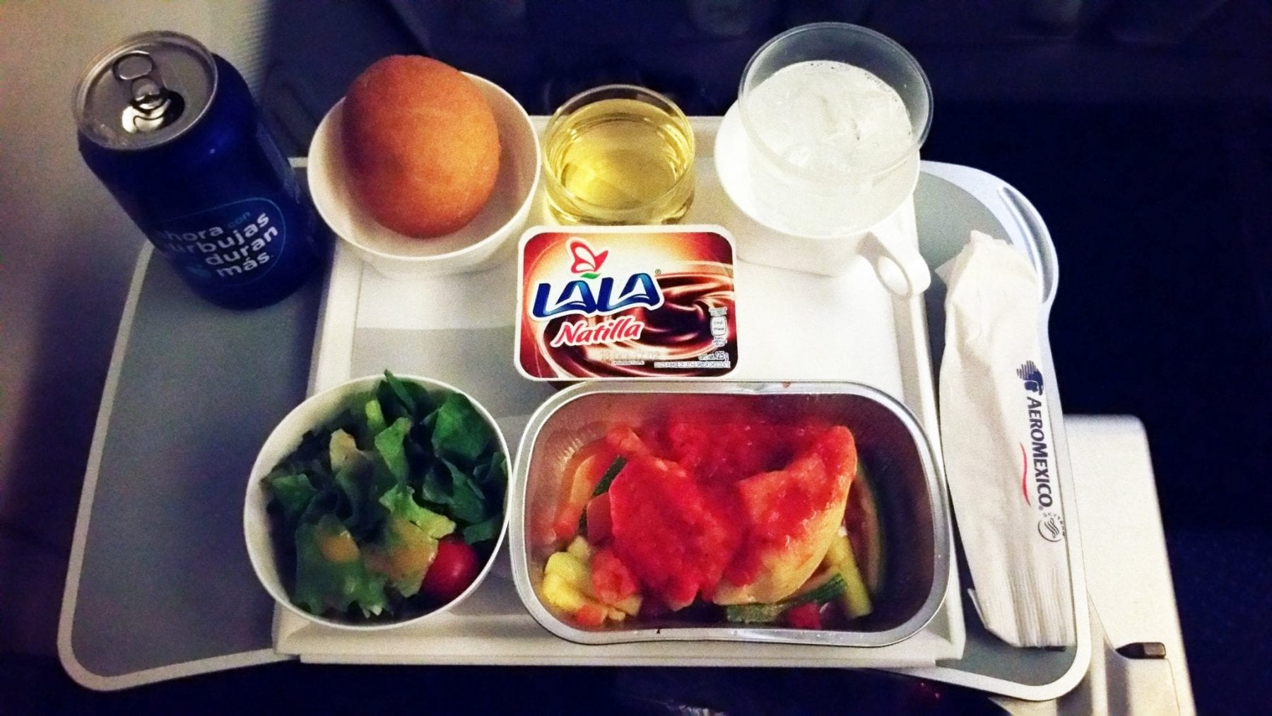 Mexico to Amsterdam on Aeromexico in economy class. Pasta Dish