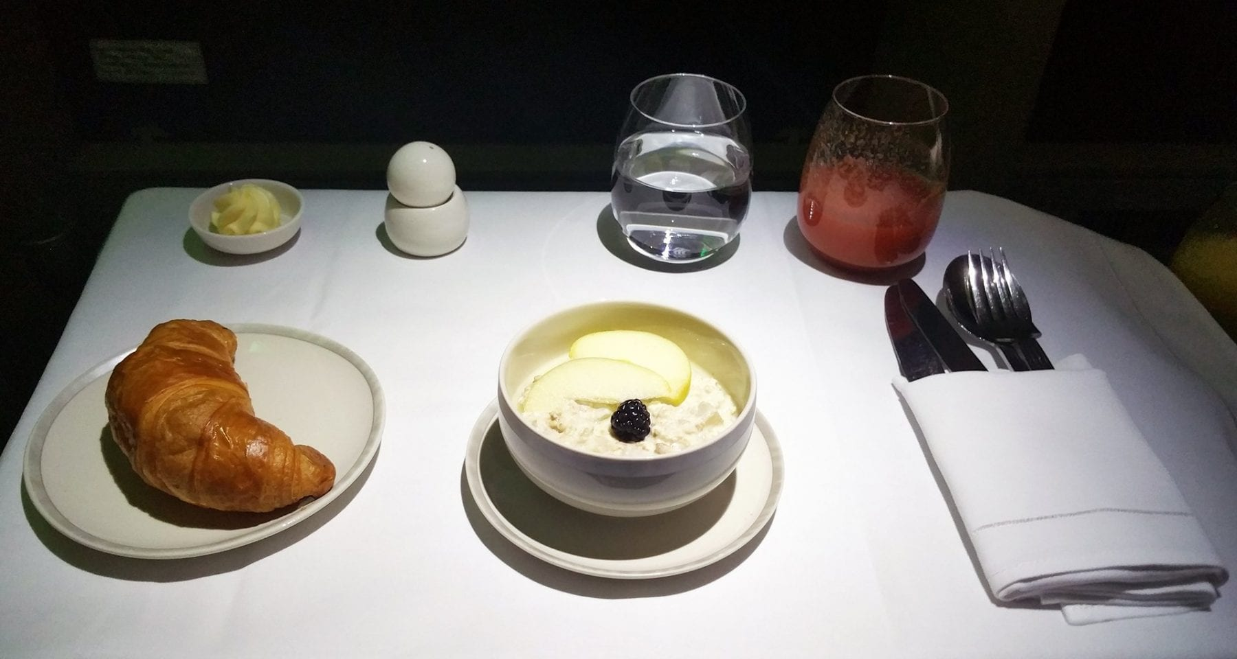 Singapore Airlines business class bircher muesli