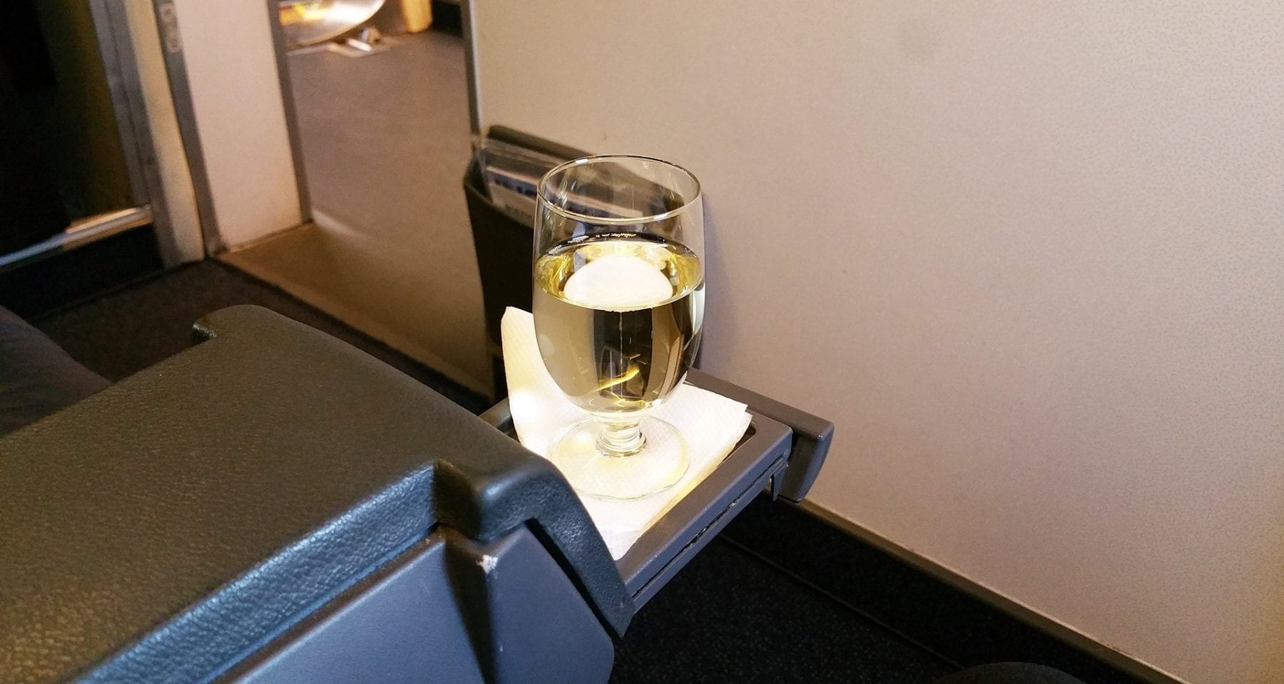 Tarom Airlines Welcome Drink of Wine