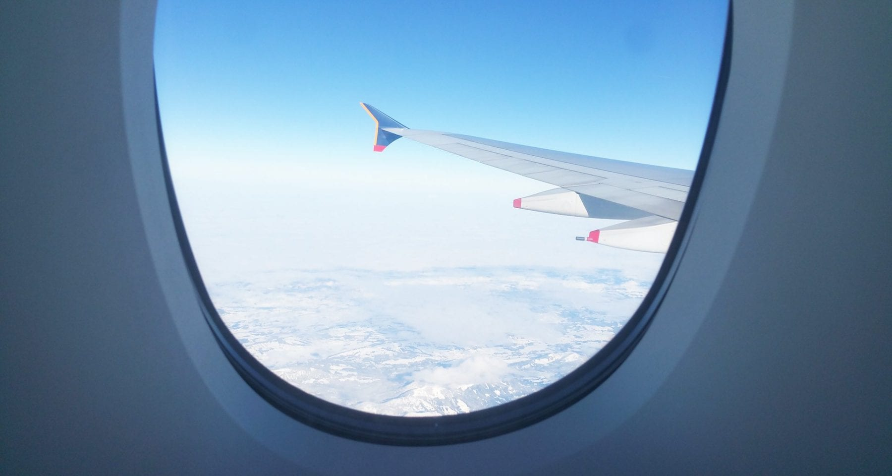 Singapore airlines window view