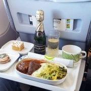 Finnair business class inflight meal