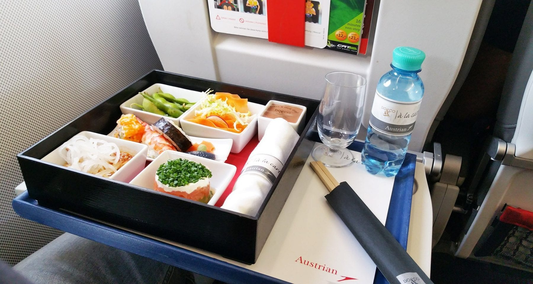 Austrian airlines japanese meal economy class upgrade meal by Do&Co