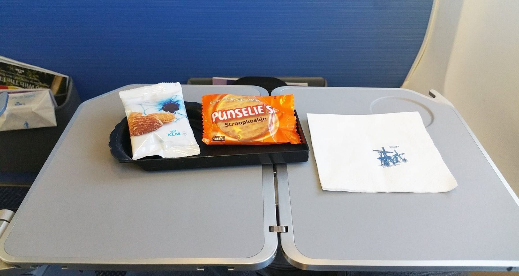 Vienna to Amsterdam with KLM business class snacks