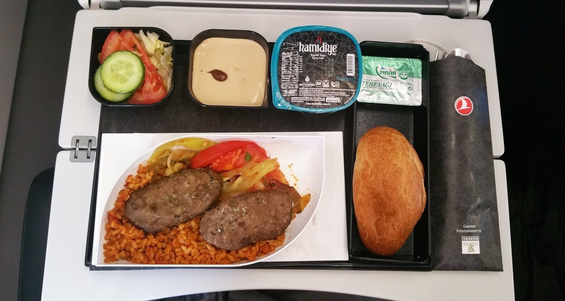 Turkish airlines economy class meal kofte