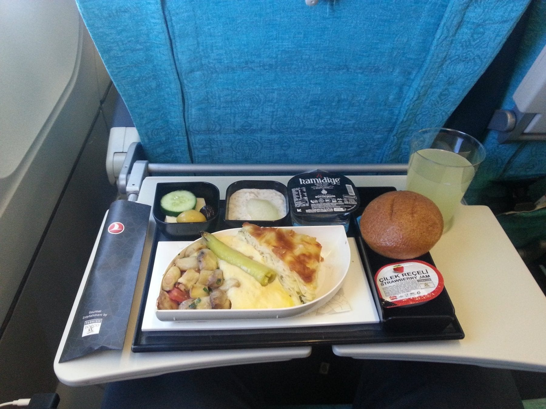 Turkish airlines economy class meal