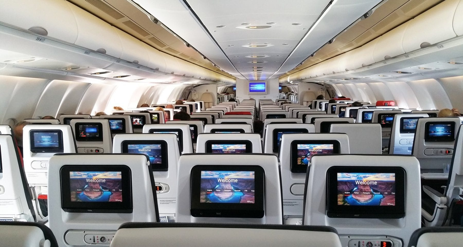 Turkish Airlines Economy Class Cabin