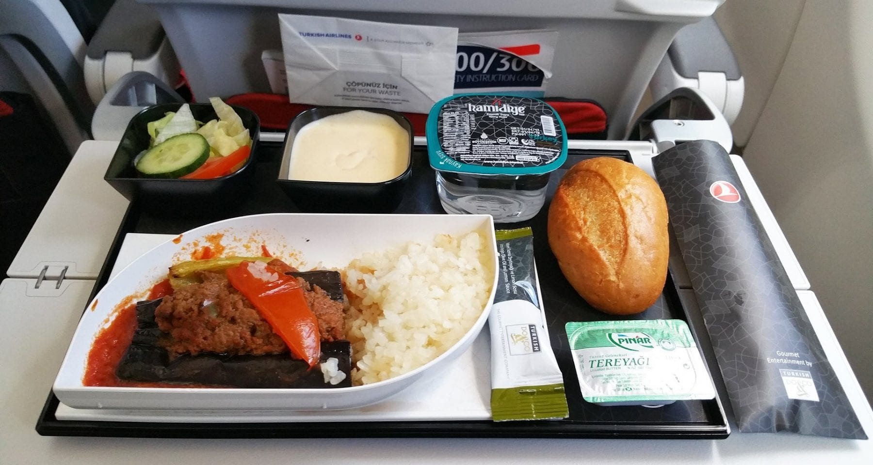 Turkish airlines economy class lunch