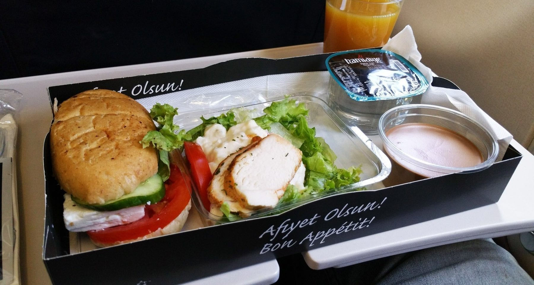 Turkish airlines economy class picnic basket concept