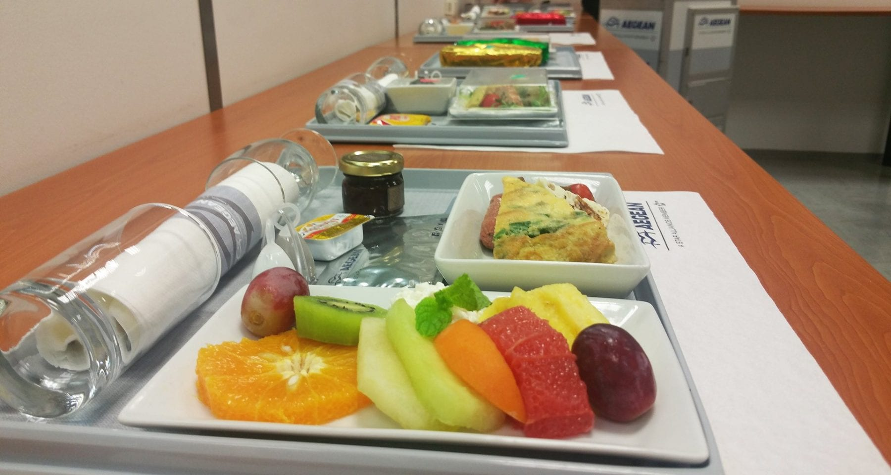 aegean airlines business class meals