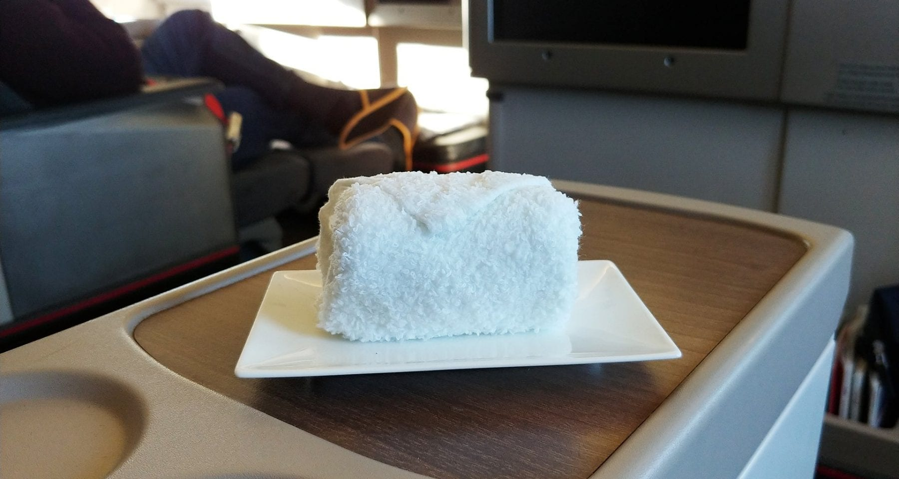 hot towel on turkish airline