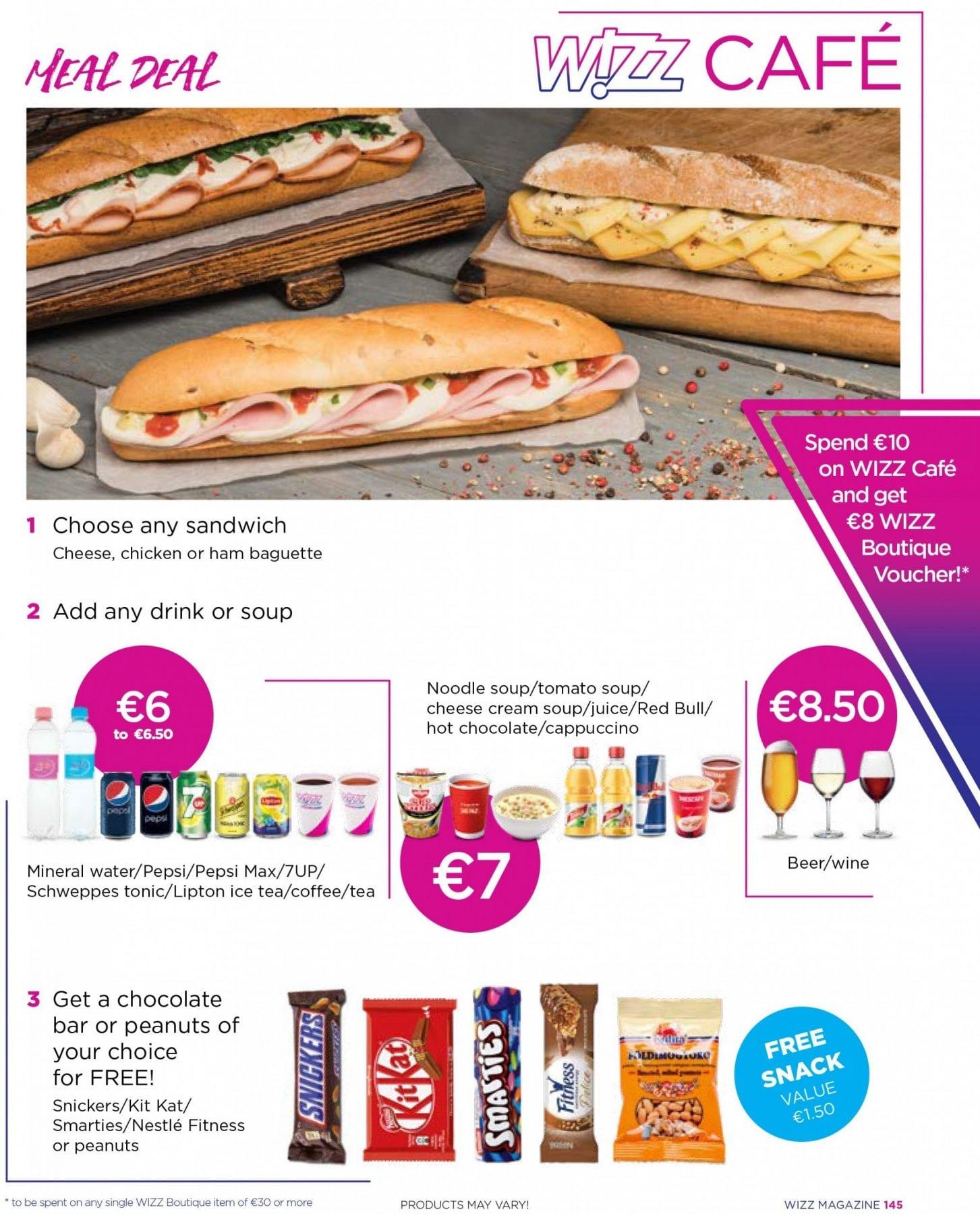 wizz air food menu