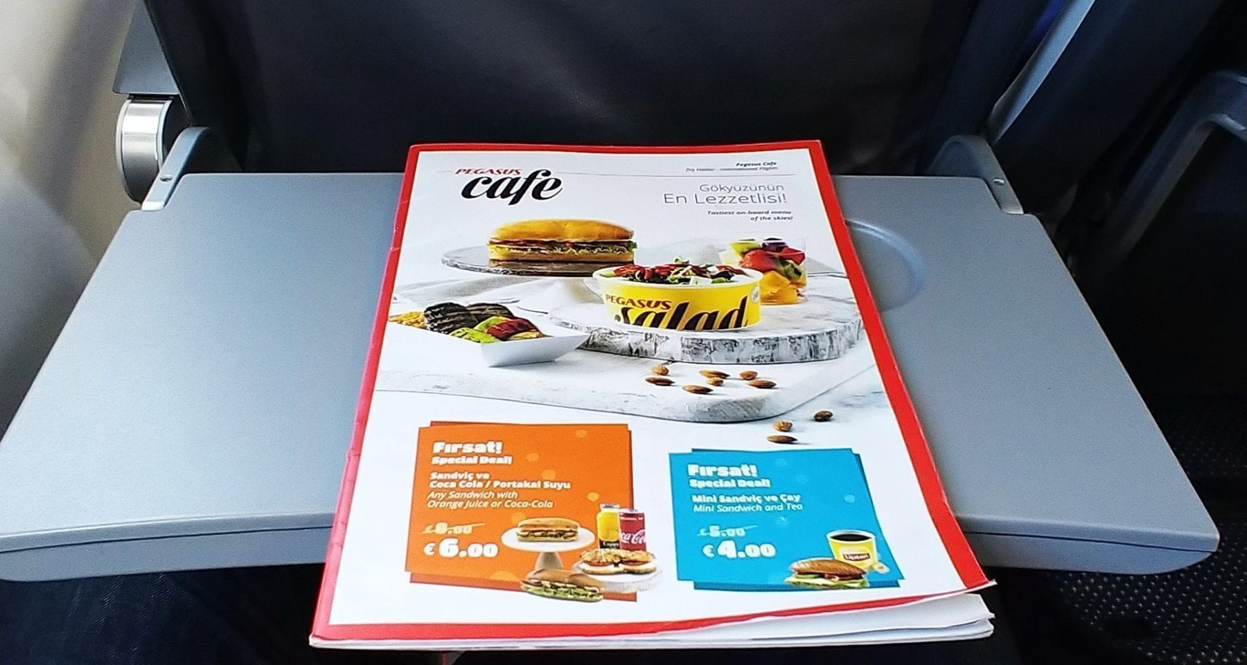 inflight menu pegasus