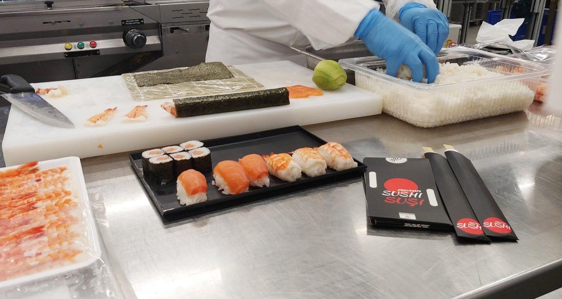sushi pegasus airlines
