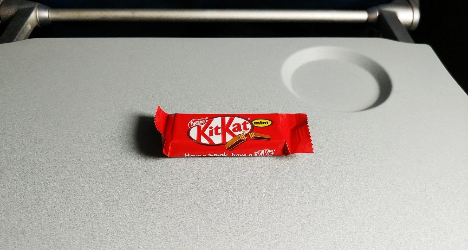 Delta economy class chocolate