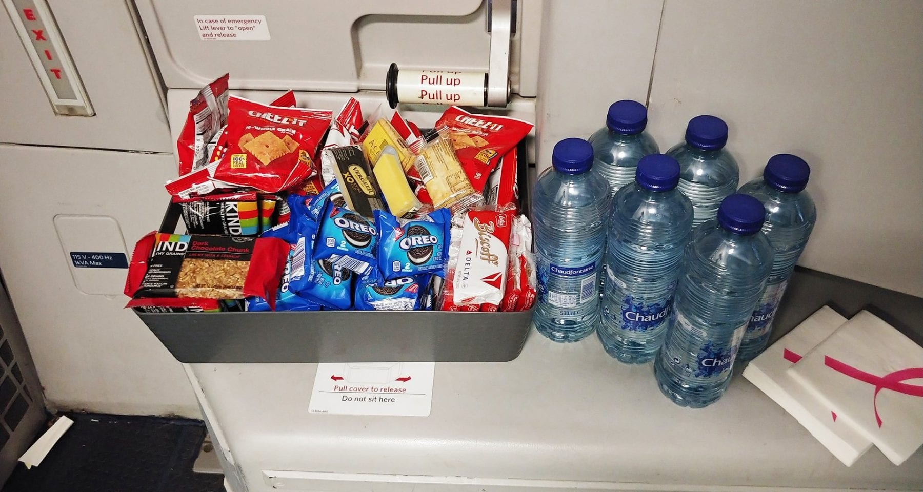 Delta inflight galley snacks