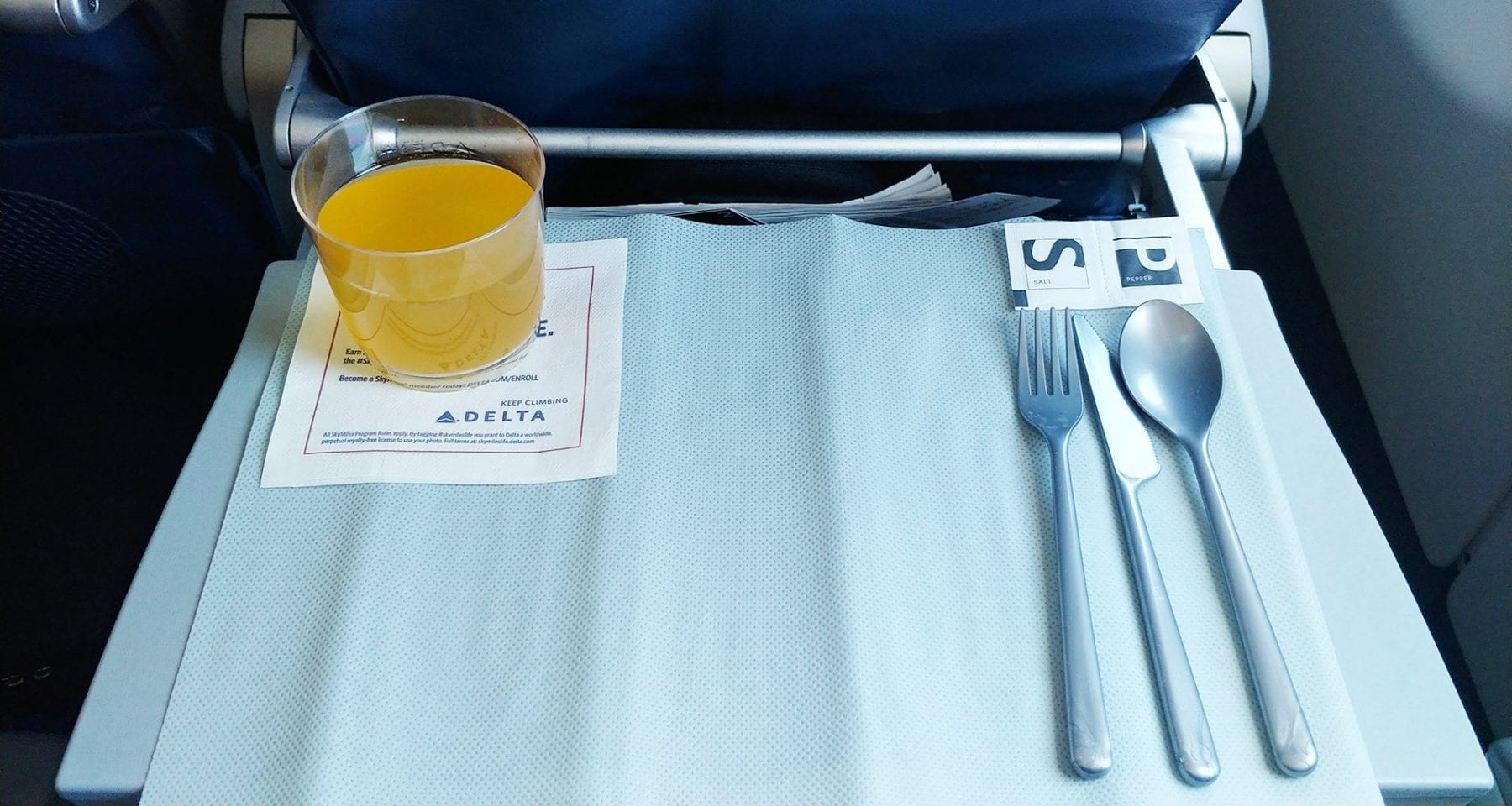 Delta main cabin Bellini drink