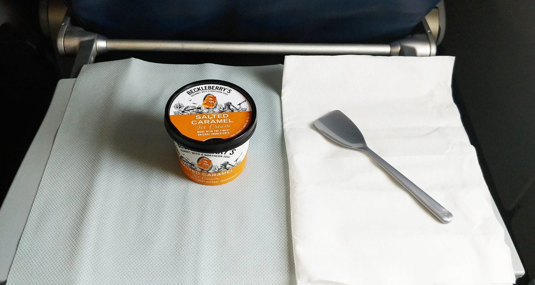 Delta main cabin dessert ice cream