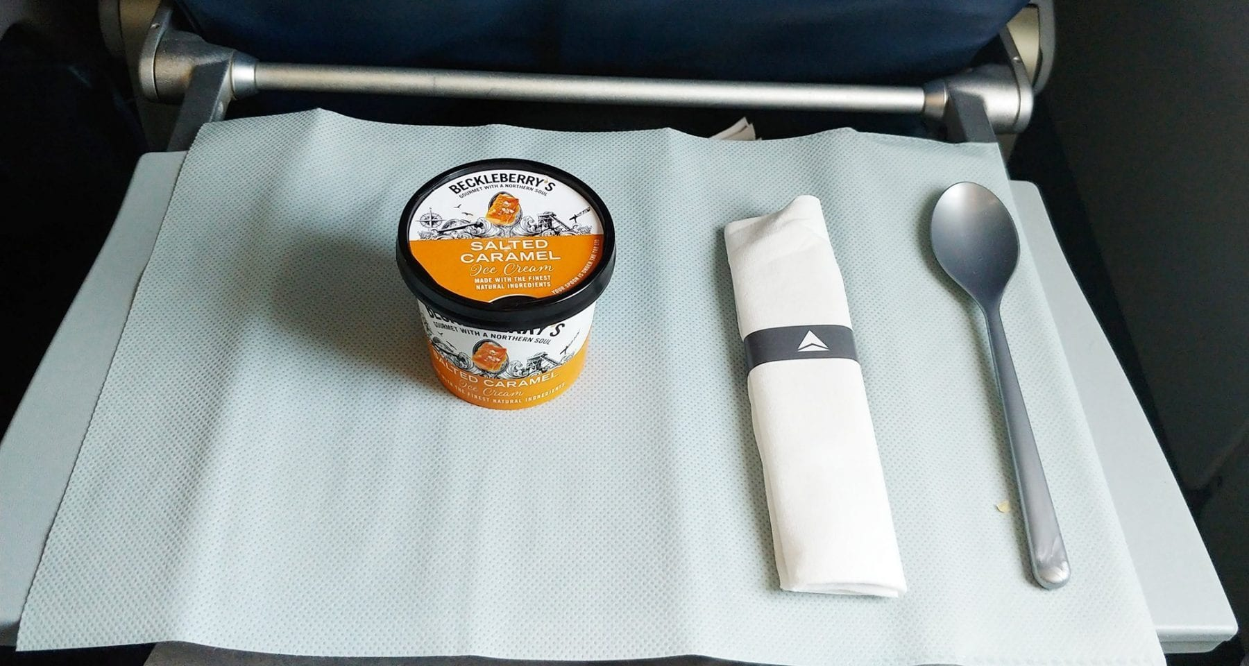 Economy class icecream on Delta Airlines